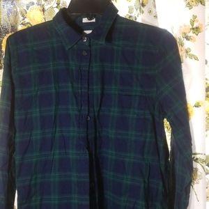 Scotch plaid boy fit flannel